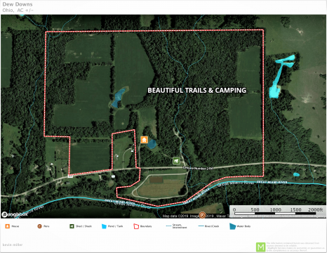 260.82 +/- Acres – Shelby Co., OH KNOWN AS DEW DOWNS